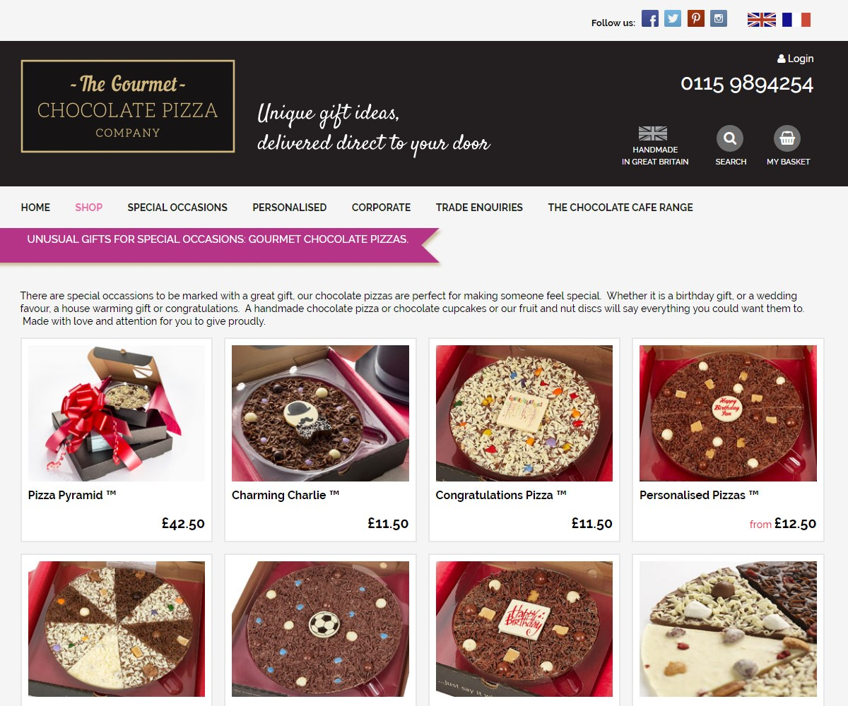 Up To 15% Off Gourmet Chocolate Pizza. Looking for best eBay UK voucher codes to save money on any purchase before the sales end. Save big bucks w/ this offer: Up to 15% off Gourmet Chocolate Pizza.